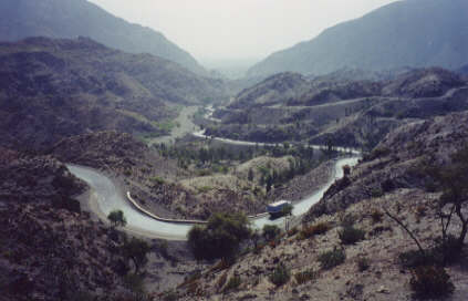 How long, wide, and high is the Khyber Pass?