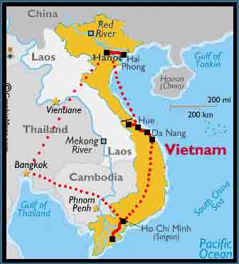 VIETNAM  Th Parallel Map on